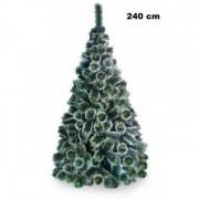Brad Artificial Pin Bogat Cu Spice Albe La 240 Cm