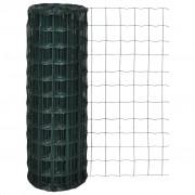 vidaXL Оградна мрежа с PVC покритие, 76 х 63 см размер на дупките, 10 1.5 м