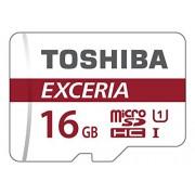 Toshiba Scheda di Memoria microSDHC Exceria, 90MB/s, Classe 10 UHS-I U1 con Adattatore, 16GB