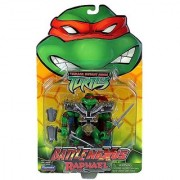 Playmates Year 2004 Teenage Mutant Ninja Turtles TMNT Battle Nexus Series 5 Inch Tall Action Figure - RAPHAEL with 2 Sais Samurai Shoulder Pad Shin Guard and Arm Guard