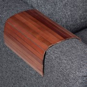 Armleuning-dienblad Practico - massief berkenhout - walnotenhout, Ars Natura