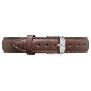 Daniel Wellington 1024DW Womens Classy Cardiff Silver 13 mm Brown Leather Band