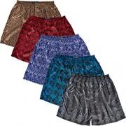 Del Rossa Mens Satin Boxer Shorts, Paisley Underwear, XL Pack of 5 Paisley (A0753PKEXL)