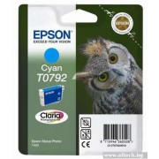 EPSON Cyan Inkjet Cartridge for Stylus Photo R1400/P50 (C13T07924010)