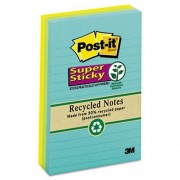 """Post-it - Super Sticky Pads,Lined,90 Sheets/PD,4""""x6"""",3/PK,Assorted, Sold as 1 Package, MMM6603SSNRP"""