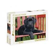 Clementoni 30346 - Puzzle The Black Dog HQC, 500 pezzi