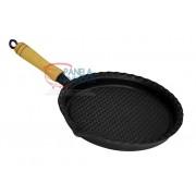 Frigideira de ferro redonda grelhada 24cm