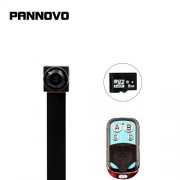 PANNOVO Mini Spy Camera with 8GB card 1080P Hidden Video Recorder Security Camera with Motion Detection Remote Control