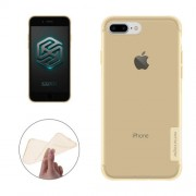 NILLKIN Nature TPU Case for iPhone 7 Plus Stylish 0.6mm Ultrathin Clear Color Soft Protective Case Back Cover(Brown)