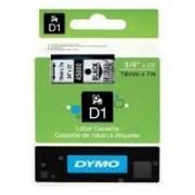 Dymo D1 Label Cassette 19mmx7m (SD45800) - Black on Transparant