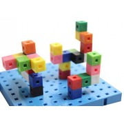 Centimeter Linking Cube Blocks And Building Baseboard Snap Block Interlocking Cubes And Building Base Constructive Building Block Toy Building Block Toy Set Busy Bag Activity