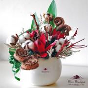 Aranjament floral stabilizat Flori Bumbac AFS002