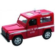 NEWRAY 56033 - Forze Dell' Ordine Land Rover Defender Vigili Del Fuoco, Scala 1:32, Die Cast