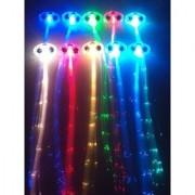 6-pack Light-up Fiber Optic Led Hair Lights (14 Strands) - Multicolor Flashing Barette - Rainbow Colors (Alternating...