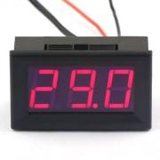 LED teplomer s 2m čidlom červený