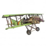Avião Verde Metal Oldway 22x60x56
