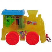 15 Pieces Block Educational Toy Series in Train Shape Pull along with Pulling String