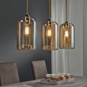 LUMZ Design hanglamp amber kleur glas