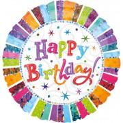 Balon folie metalizata jumbo - Happy Birthday - 81 cm