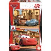 EDUCA 14938 PUZZLE CARDBOARD Disney Maşini 2 / 2 x 20 bucăţi 28*20 cm