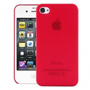 Quicksand Air skin Super Thin Matte Finish Anti Slip Back Case Cover for Apple iPhone 4S Red