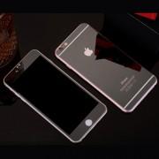 Folie Sticla iPhone 6S Plus iPhone 6 Plus Set 2 Buc Fata si Spate Mirror Neagra Protectie Antisoc Tempered Glass