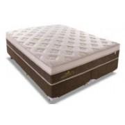 Conjunto Box Colchão Sealy Molas Pocket Personalle + Cama Box Nobuck Rosolare Café - Conjunto Box Queen Size - 158 x 198