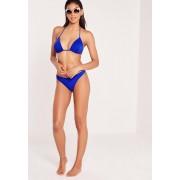 Missguided Bleu de cobalt Haut de bikini triangle bleu roi
