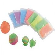 Make Your Own Bouncy Balls Craft Kit - Makes 16 Balls - Great Stocking Stuffers -- (You Receive 8 Individual Kits Each Kit Makes 2 Balls)