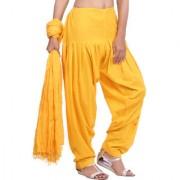 Jaipurkurti Pure Cotton Yellow Patiala Salwar and Dupatta Set
