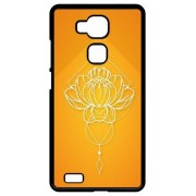 Coque Huawei Ascend Mate7 Monarch Lotus Geometric Fond Orange