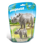 Playmobil 6638 - Rinoceronte con Cucciolo