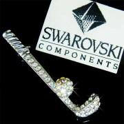 Swarovski Crystal Golf Club & Ball Brooch