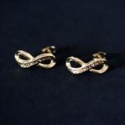 Earring Gold Plated Jewelry Semi Infinite