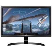 "Monitor Gaming IPS LED LG 23.8"" 24UD58-B, Ultra HD 4K (3840 x 2160), HDMI, DisplayPort, FreeSync, 5 ms (Negru) + Ventilator de birou Esperanza EA149K, USB, 2.5W (Negru)"
