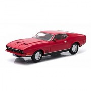 1971 Ford Mustang Mach 1 Red Greenlight Exclusive 1/43 by Greenlight 86304