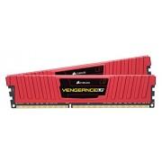 Corsair CMK8GX4M2A2400C16R Vengeance LPX Kit di Memoria RAM da 8 GB, 2x4 GB, DDR4, Rosso