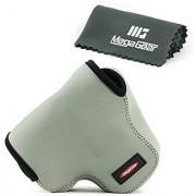 MegaGear Ultra Light Neoprene Camera Case Bag with Carabiner for Canon PowerShot SX60 HS Digital Camera (Gray)