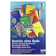 URSUS 7910099 - bricolage sans fin, 164 de papier, assortis dans divers matériaux, couleurs et motifs