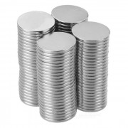 Super Strong Rare-Earth RE Magnets (20mm x 2mm / 100-Pack)