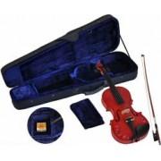 Steinbach 1/16 Linkshändergeige im SET rot mit Blumendekor handgearbeitet ABVERKAUF Linkshändergeige Geige Violine rote Geige Geigenset Violinset blumendekor