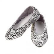 Rose & Romeo - 11023 - Costumi Accessori - Scarpe - Lilly - argento - Taglia 25