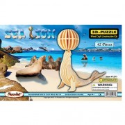 Puzzled Sea Lion Wooden 3D Puzzle Construction Kit