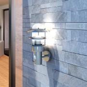 vidaXL Nástěnné svítidlo na terasu s pohybovým čidlem - nerez ocel