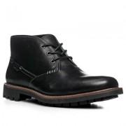 Clarks Herren Schuhe Schnürstiefeletten Leder schwarz schwarz,braun