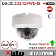 Hik Dome Camera DS-2CD2142FWD-IS 4MP POE IP Camera Day/night Infrared 3D DNR 3-axis adjustment IP67 IK10 Protection IP Camera