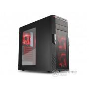 Carcasă PC Sharkoon T28, negru, interior roşu