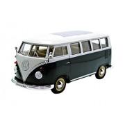 Welly - 22095 Gr - Volkswagen Kombi autobús T1 - 1962 - 1/24 Escala - verde / blanco