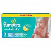 Scutece Pampers Active Baby 3 Giant Pack 108 buc (produs intact cu ambalaj deteriorat)