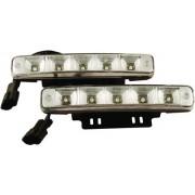 Autós led nappali fény, 5 led, 2x400 Lumen, 2x5W, hideg fehér, ?E? jelű! Life Light Led
